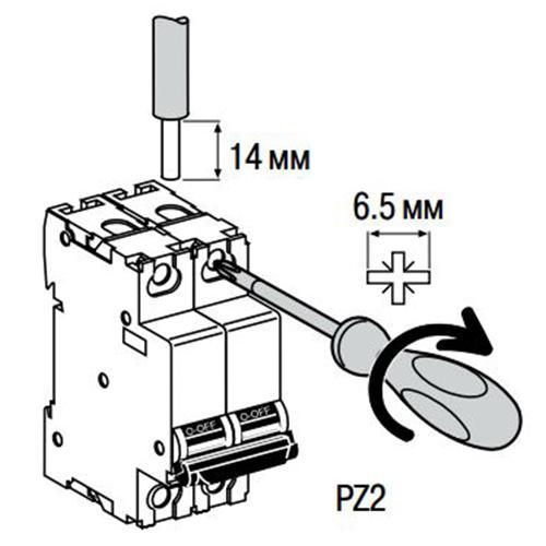 Монтаж автоматического выключателя Schneider Electric ВА63 Домовой