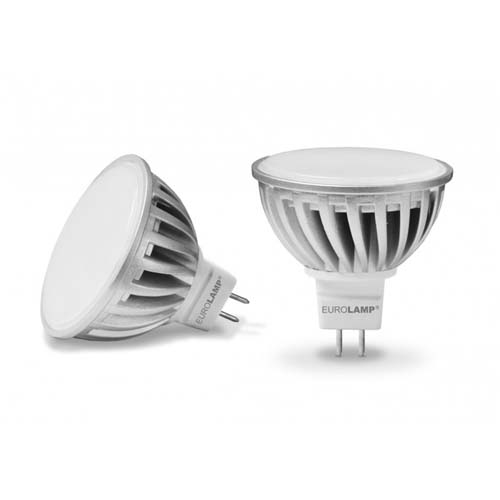 Светодиодная лампа LED-SMD-5,5533(12) Ceramic MR16 GU5.3 5.5W 3000K 12V Eurolamp