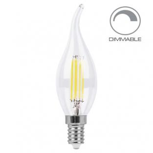 Светодиодная лампа Filament dimmable 4971 LB-69 CF37 E14 4W 2700K 220V Feron