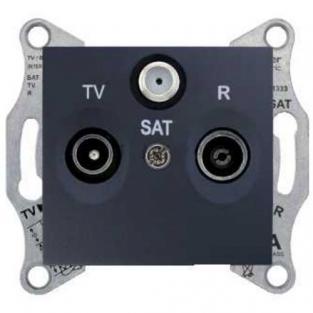 de3ddb65718e Механизм розетки TV R SAT проходной 4дБ графит SDN3501470 Schneider  Electric Sedna